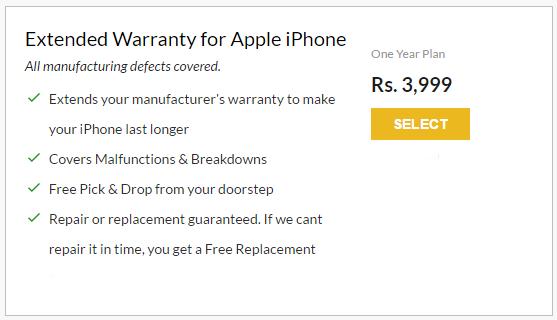 OnsiteGo 1 Year Extended Warranty plan