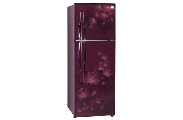 Review lg 255 litre frost free double door refrigerator - Lg fridge with flower design ...