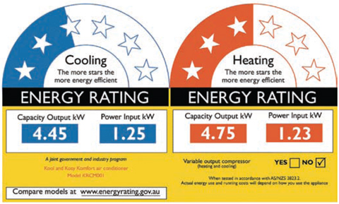 Star Rating & Energy Consumption width=