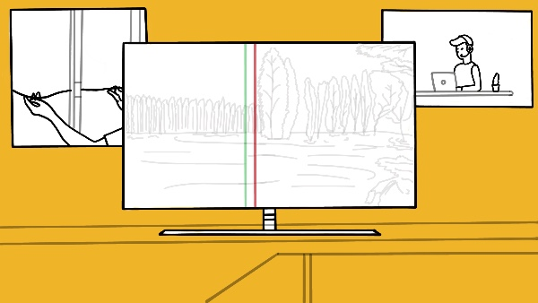 Lines On The TV Screen width=