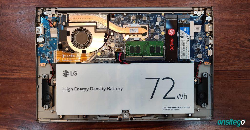 Laptop Battery RAM Storage