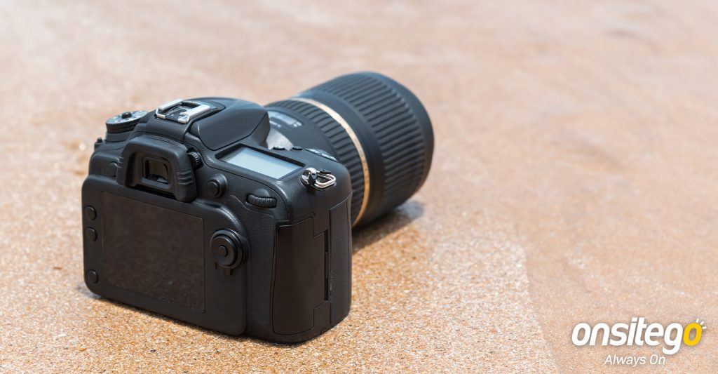 DSLR Camera Sand Water