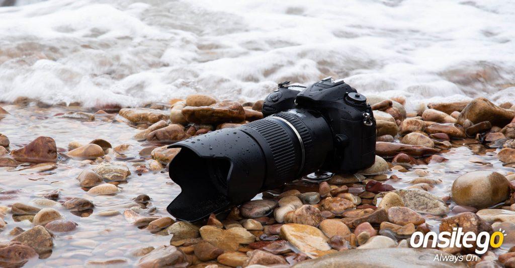 DSLR Camera Water Damage