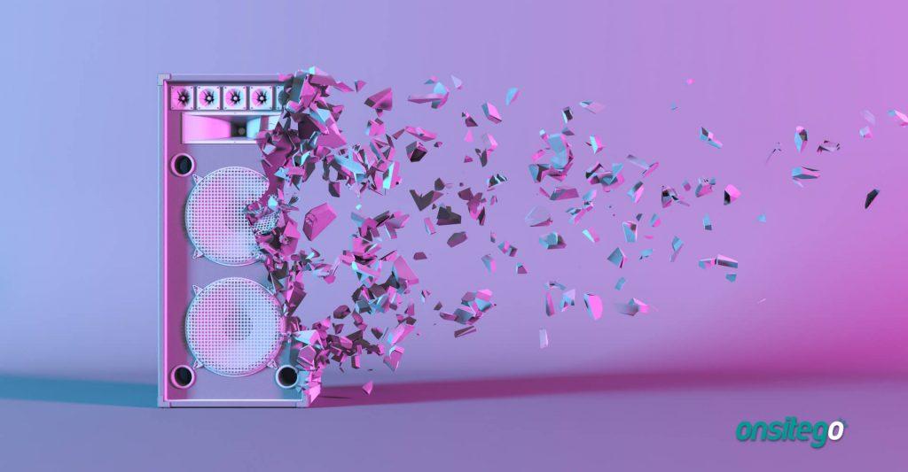 Cracked Loudspeaker