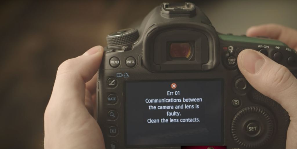 The Most Common DSLR Errors and Solutions