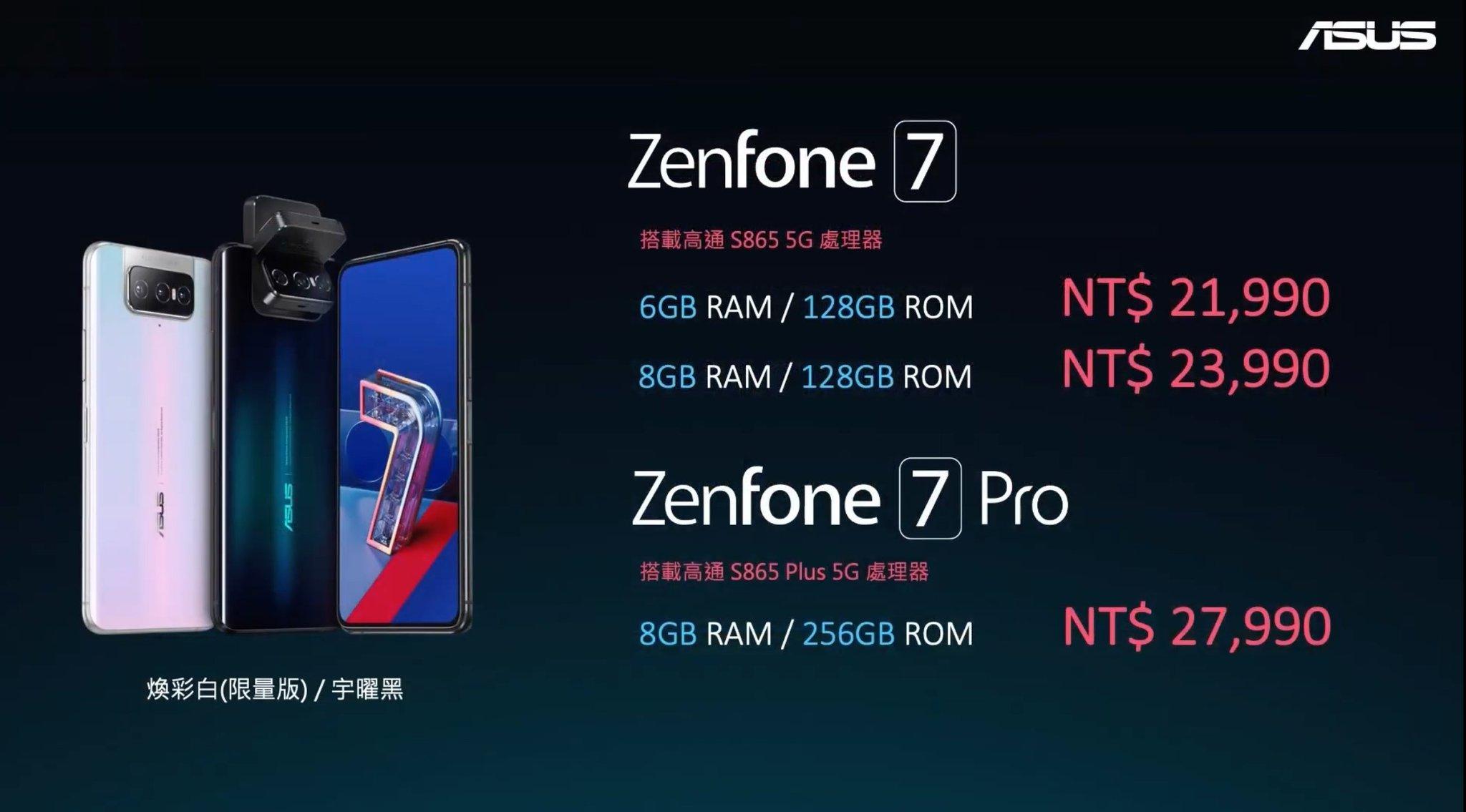 ASUS ZenFone 7 Pro Series Price