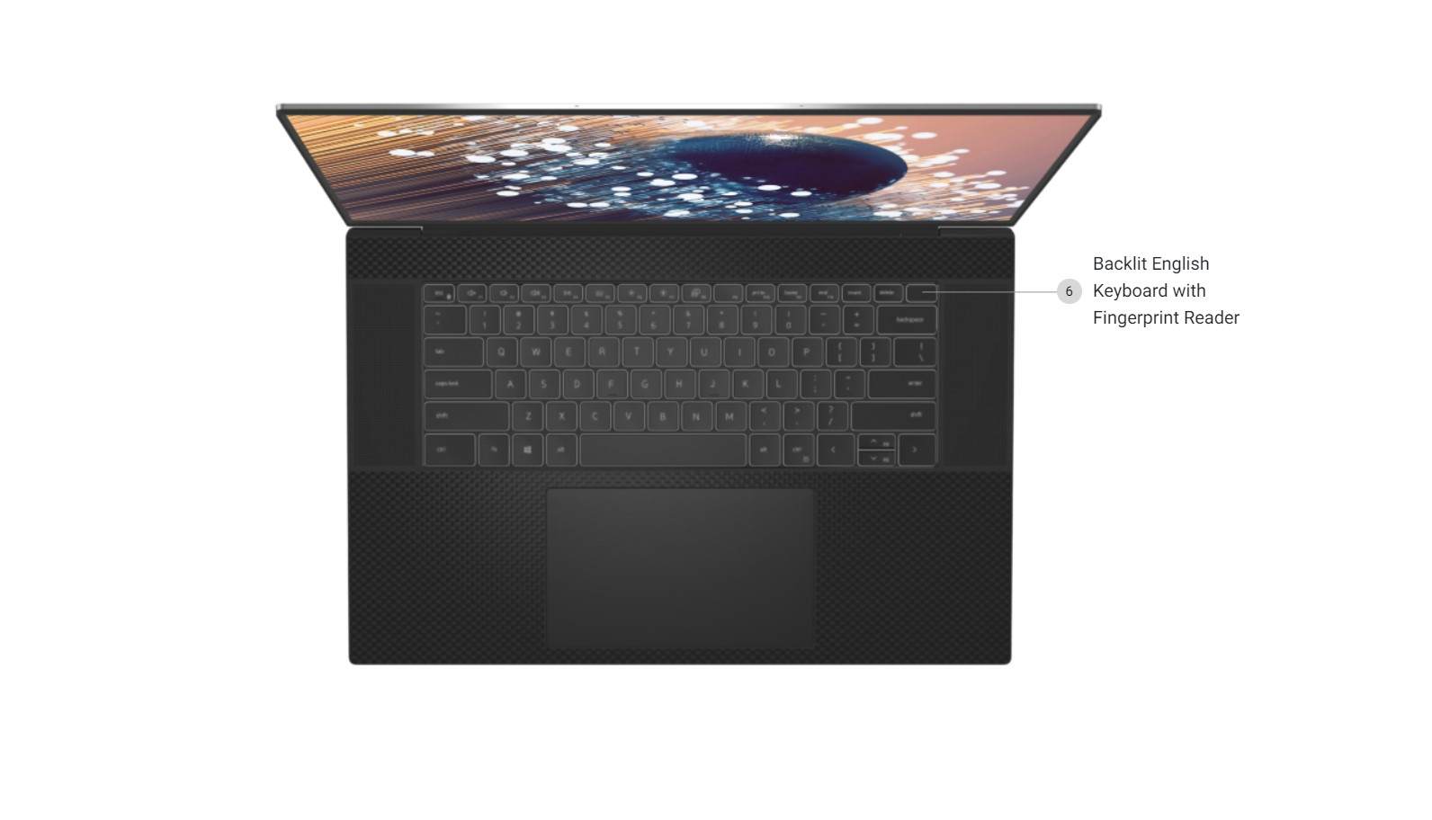 Dell XPS 17 9700 Keyboard Trackpad