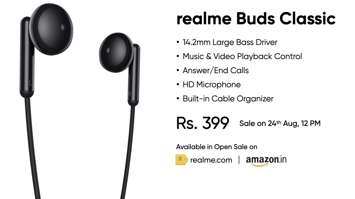 Realme Buds Classic Specs Price India