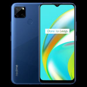 Realme C12 Front Back Design Power Blue