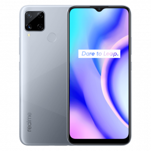 Realme C15 Front Back Design Power Silver