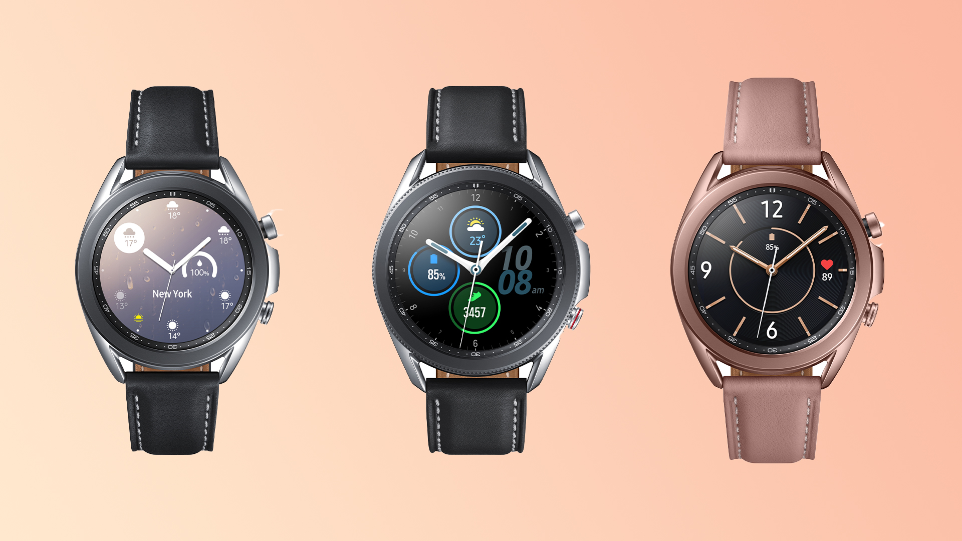 Samsung Galaxy Watch 3 Colors Front