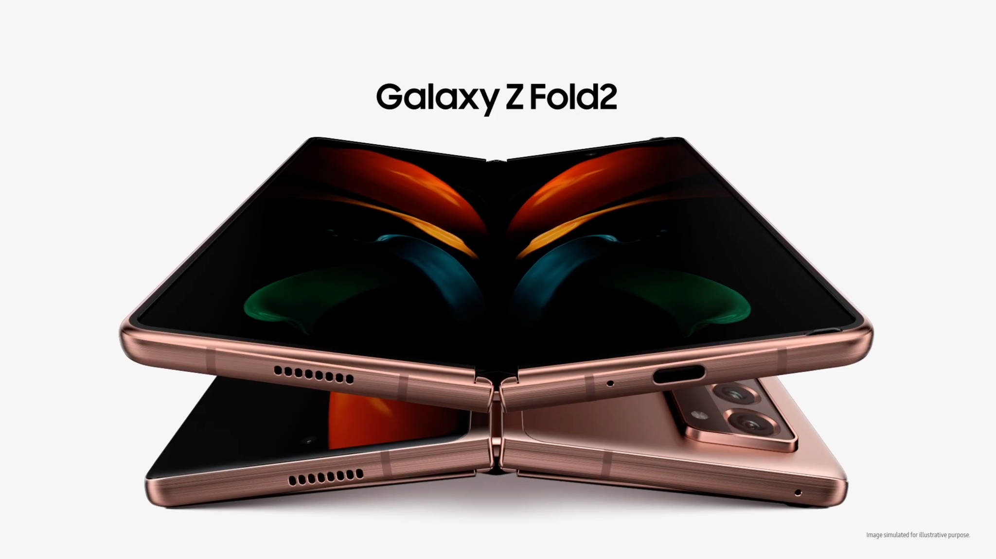 Samsung Galaxy Z Fold 2 Opened