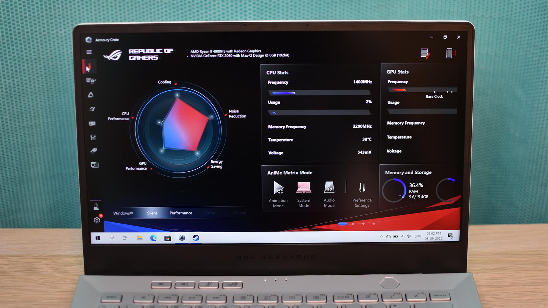 ASUS ROG Zephyrus G14 Armoury Crate Software