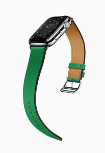 Apple Watch Hermes Series 6 Attelage Single Tour Green