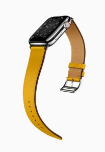 Apple Watch Hermes Series 6 Attelage Single Tour Yellow