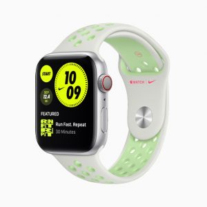 Apple Watch Nike Series 6 Sport Band White Green