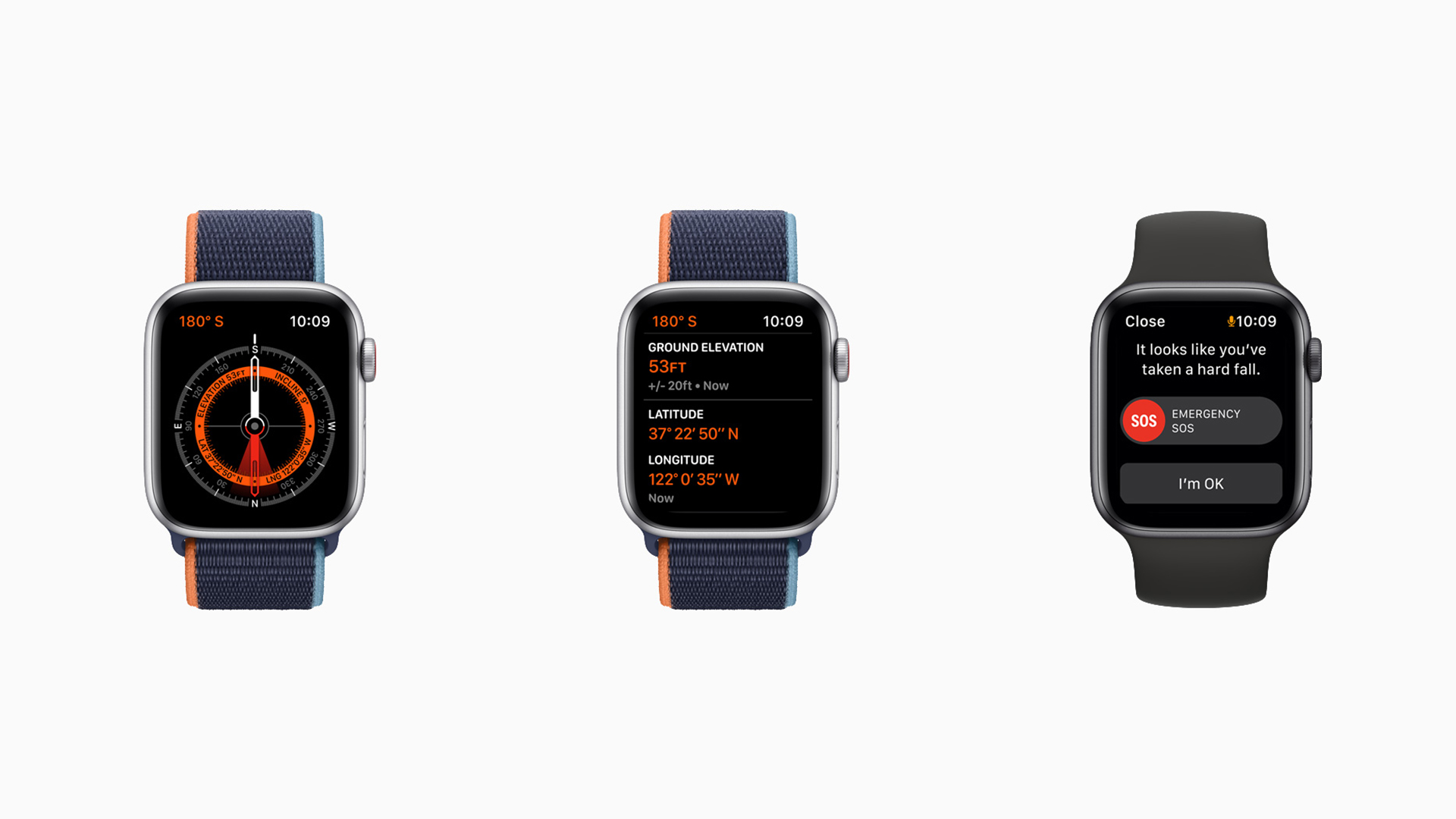 Apple Watch SE Always On Altimeter Compass Fall Detection