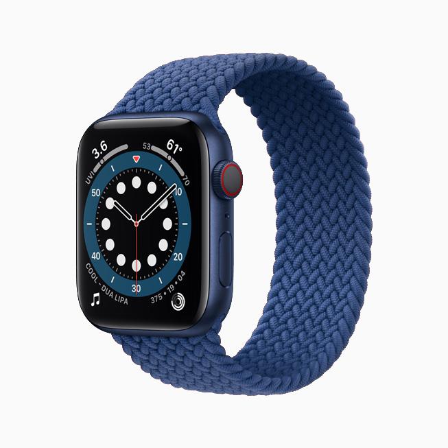 Apple Watch Series 6 Aluminium Blue Braided Solo Loop