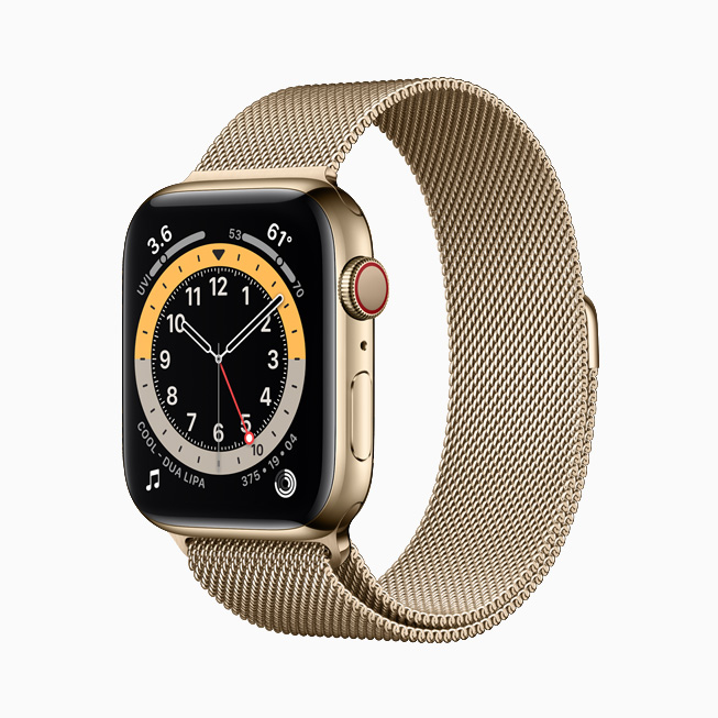 Apple Watch Series 6 Stainless Steel Yellow Gold