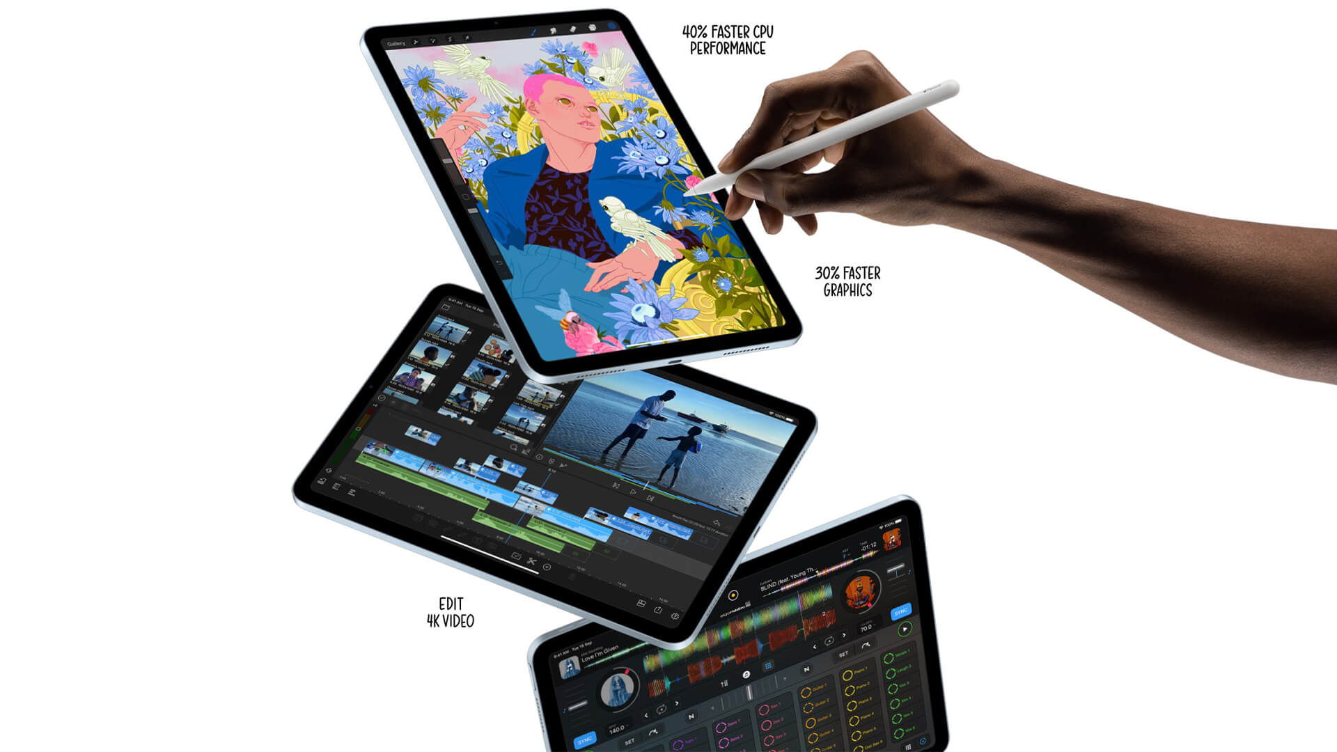 New iPad Air Brings 5nm A14 Bionic Processor, Bezel-Less Design