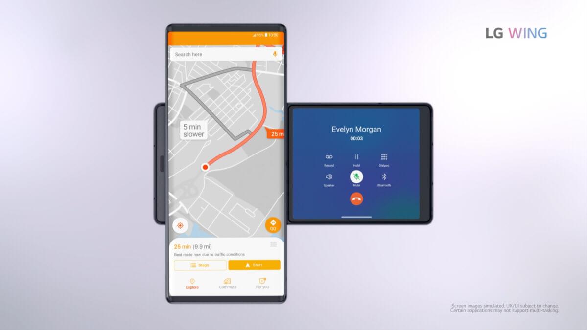 LG Wing 5G Navigation