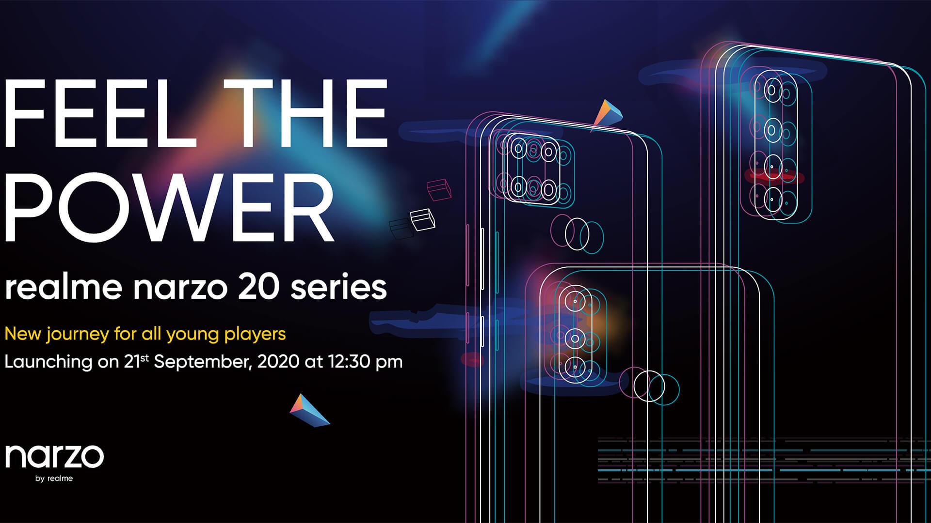 Realme Narzo 20 Series Launch Invite