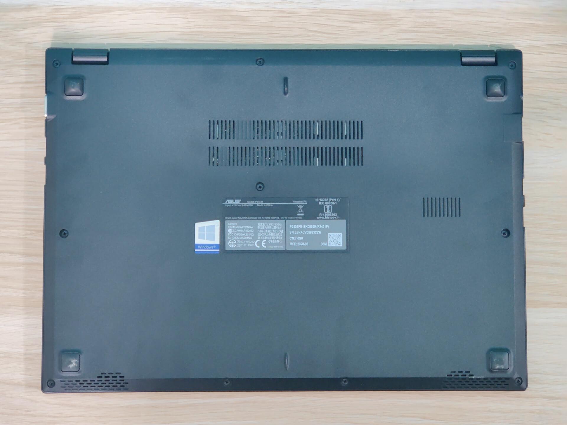 ASUS ExpertBook P2 P2451FB Bottom Lid