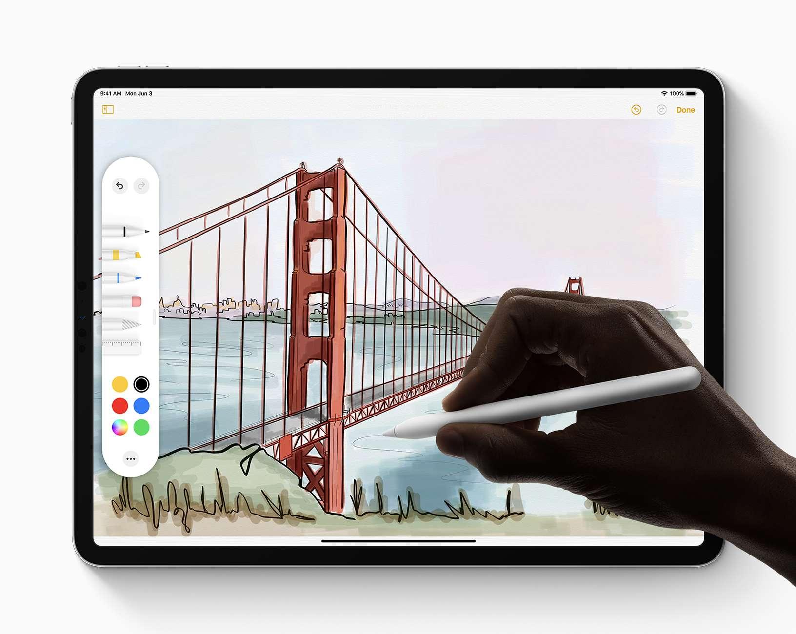 Apple iPad Pro Apple Pencil 2 Drawing
