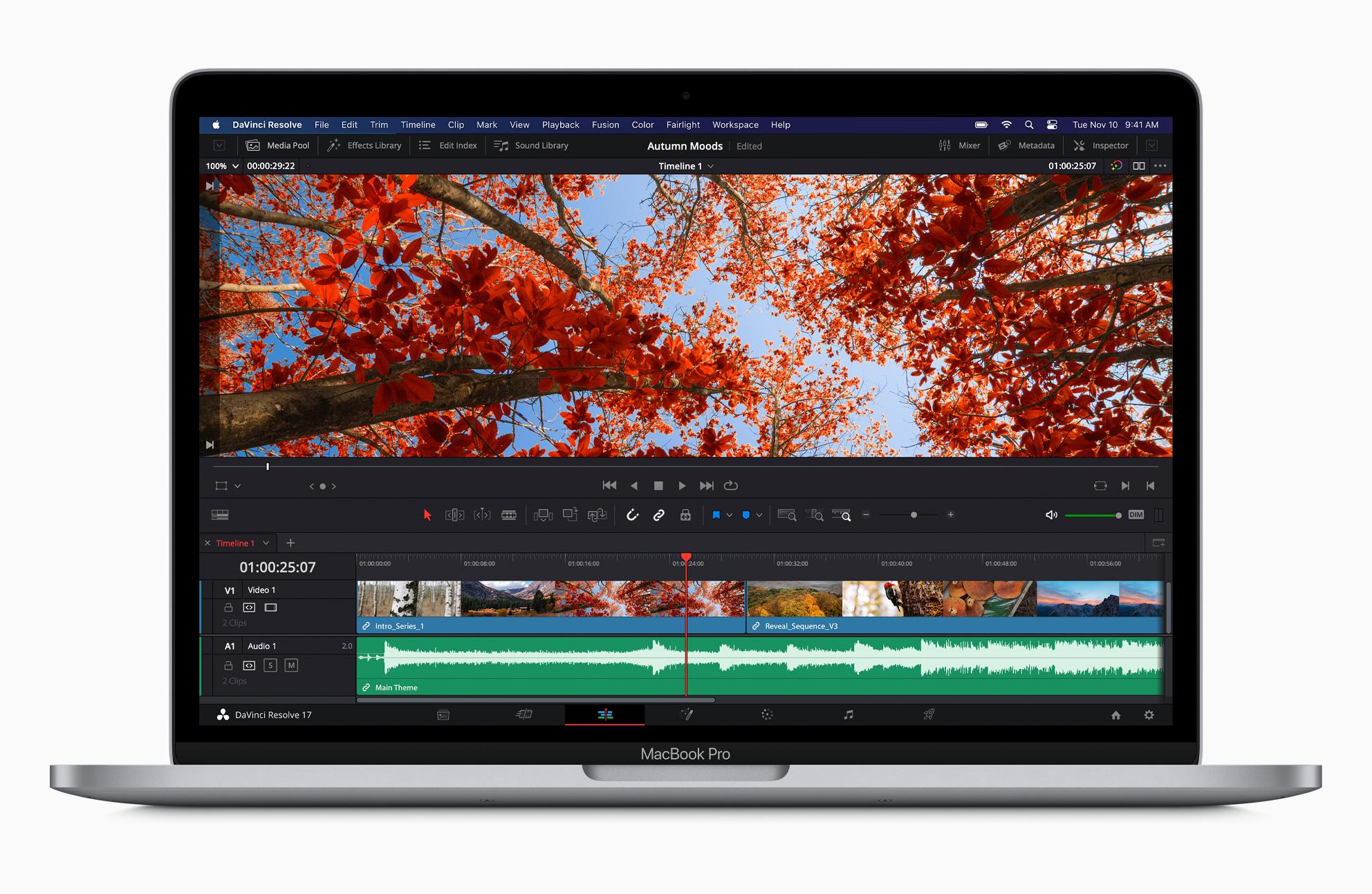 Apple MacBook Pro DaVinci Resolve