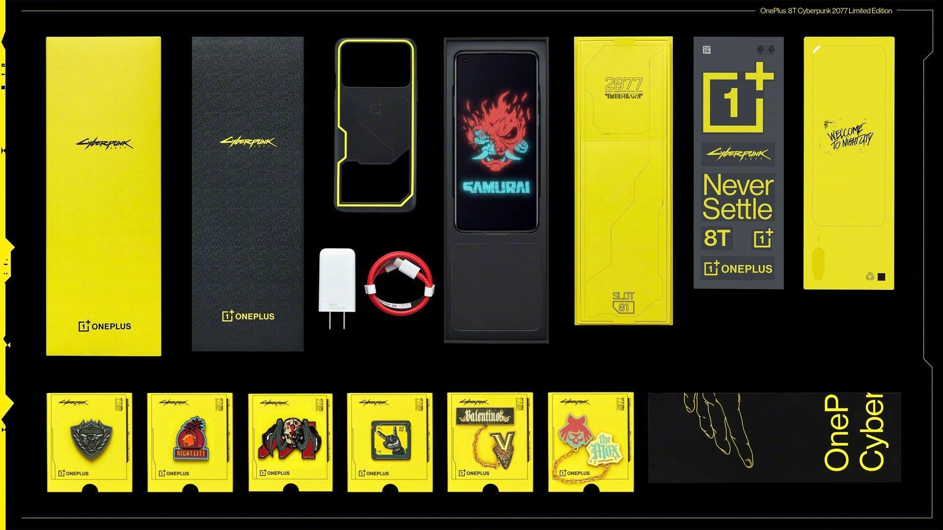 OnePlus 8T Cyberpunk 2077 Edition Box Accessories