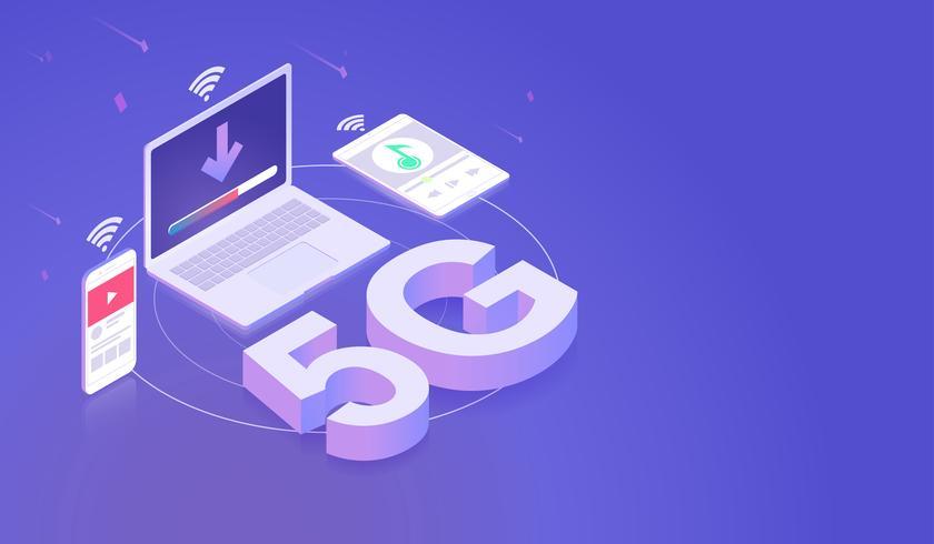 5G Network Smartphone Laptop