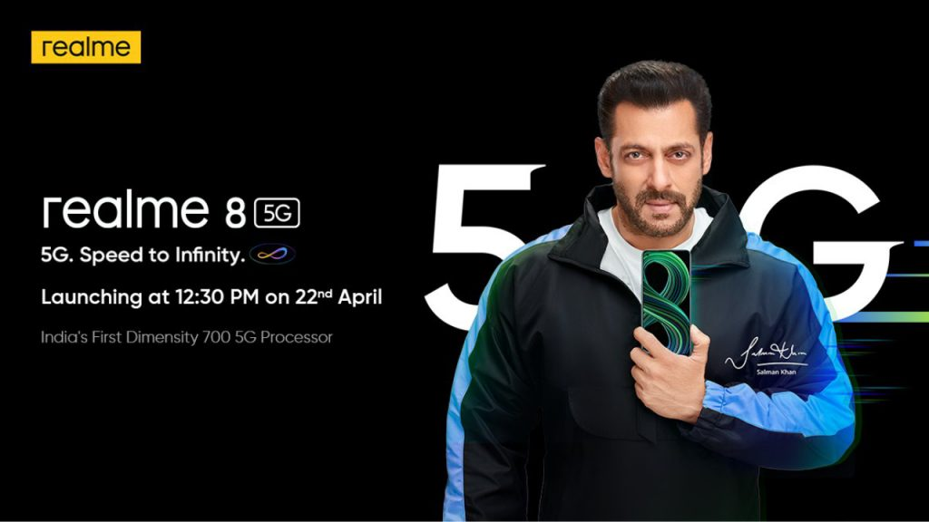 Realme 8 5G with Dimensity 700 SoC is launching in India on April 22