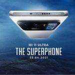Xiaomi to launch Mi 11 Ultra, Mi 11X series, and Mi QLED TV 75-inch in India on April 23