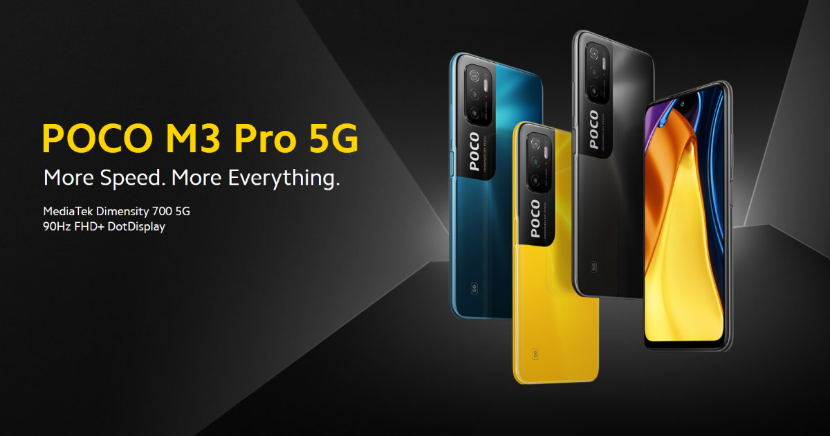 POCO M3 Pro 5G Launched in India as the Most Affordable 5G Smartphone: Price, Specifications
