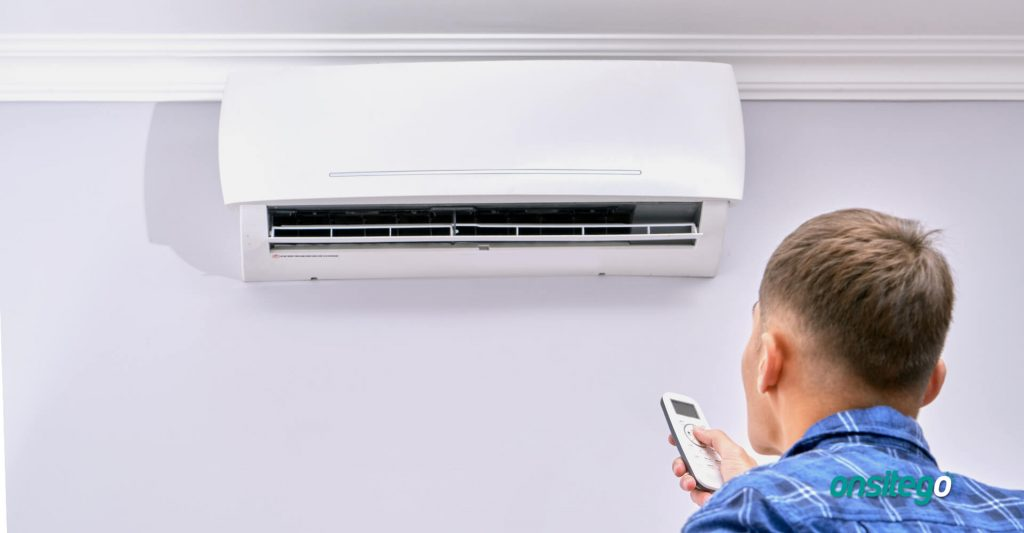Air Conditioner Turning On Remote Controller