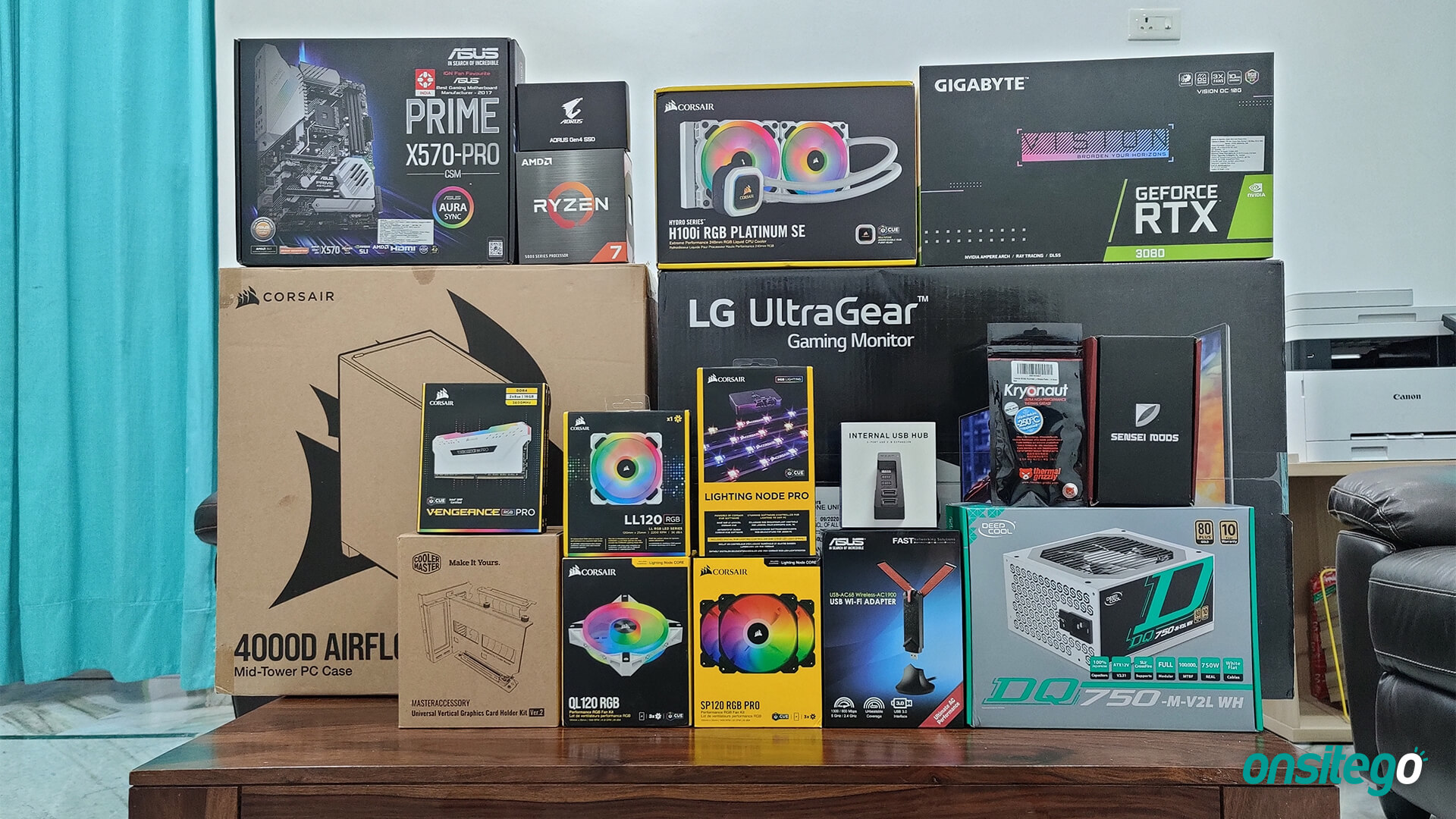 All White Gaming PC Build Parts