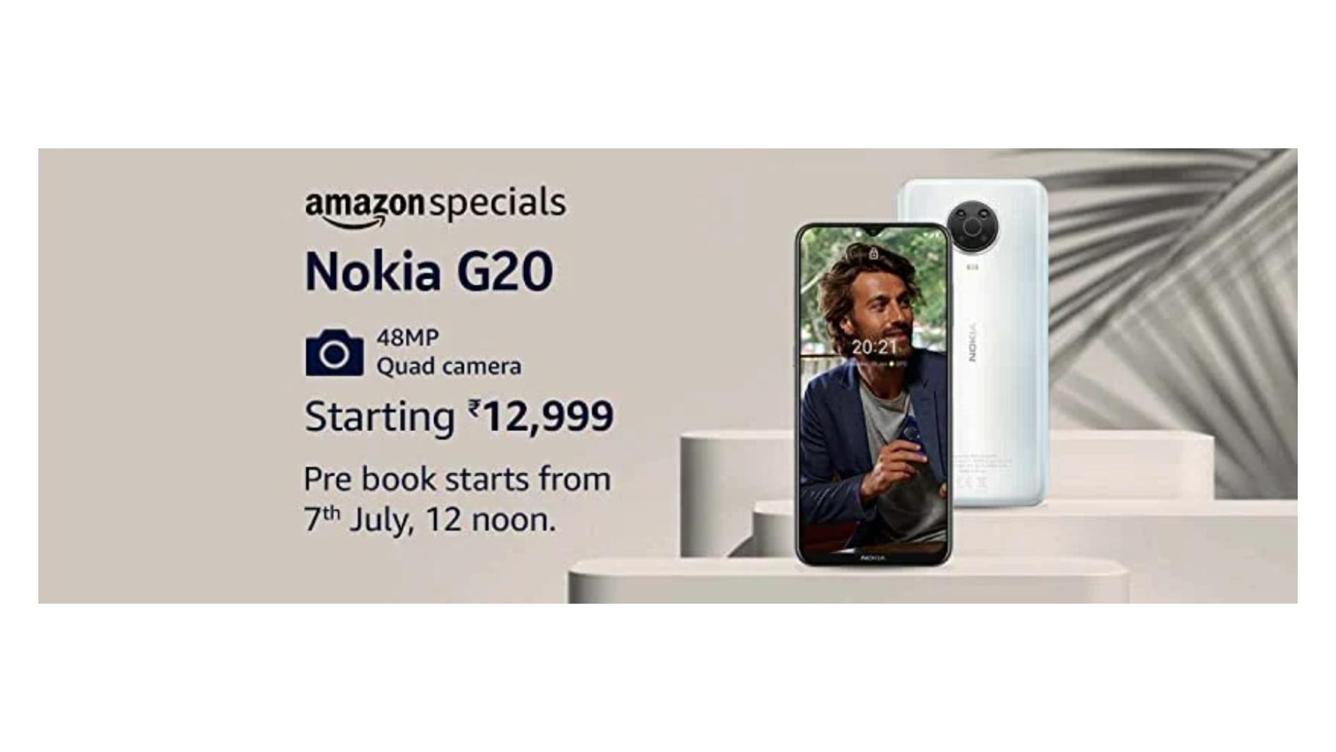 Nokia G20 Amazon Listing