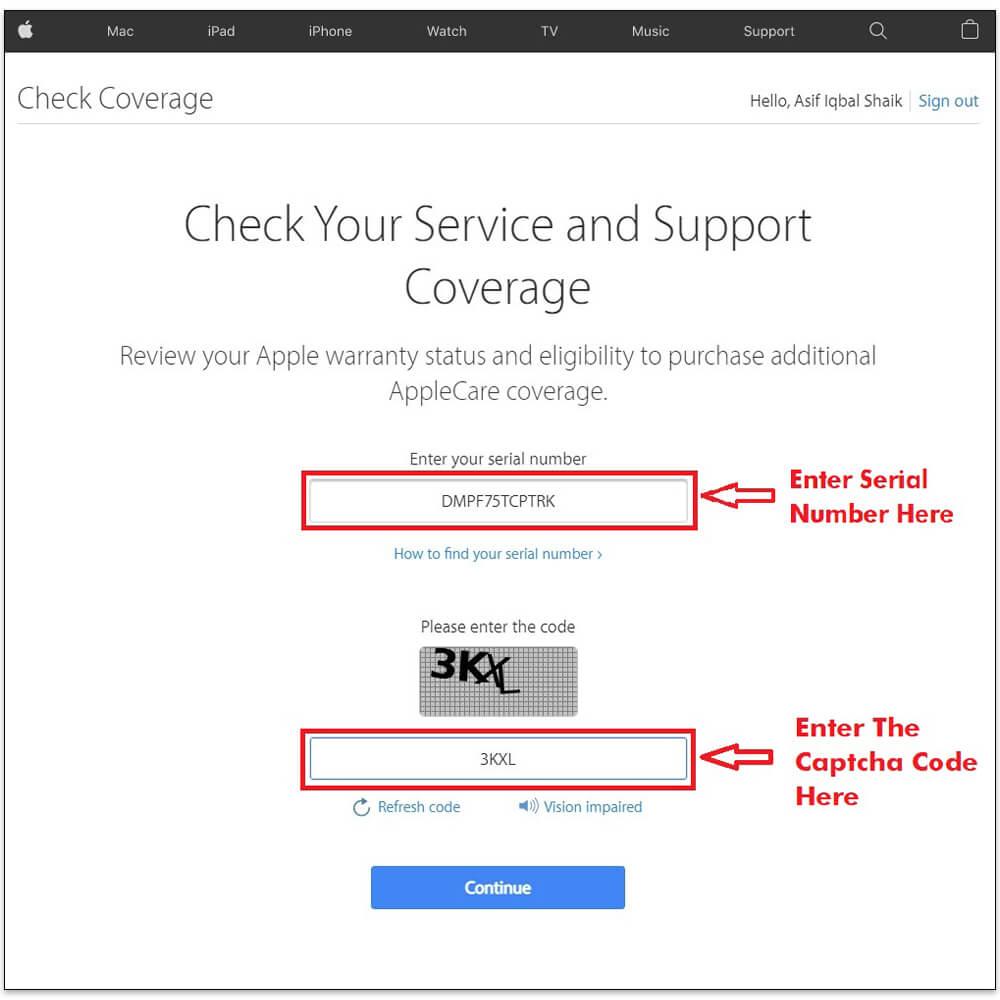 Apple Warranty Check Online Tool