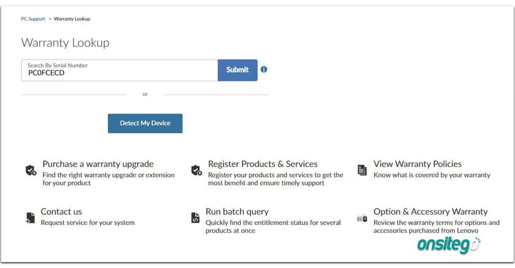 Lenovo Warranty Check Online Enter Serial Number