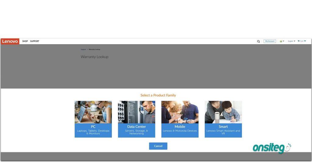 Lenovo Warranty Check Online Select Machine Type