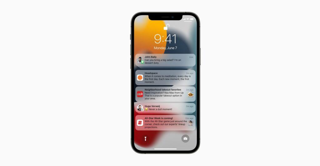 Notifications iOS15