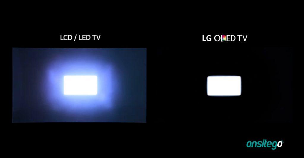 OLED TV vs LCD TV Perfect Blacks No Blooming