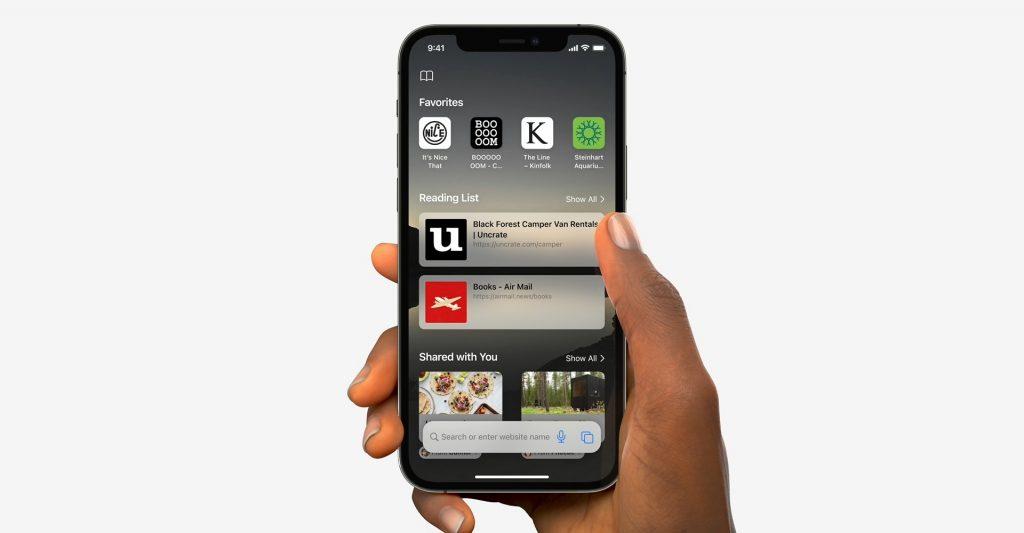 Safari browser iOS 15