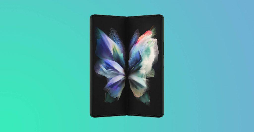 Samsung Galaxy Z Fold 3 Phantom Green Open Screen