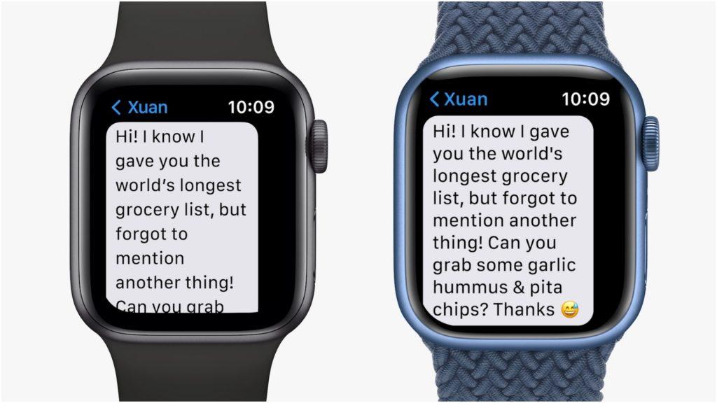 Apple Watch Series 7 Display Text