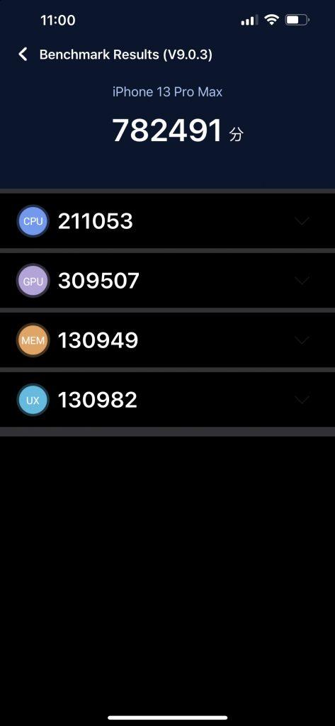 Apple iPhone 13 Pro Max Antutu Benchmark Score Details