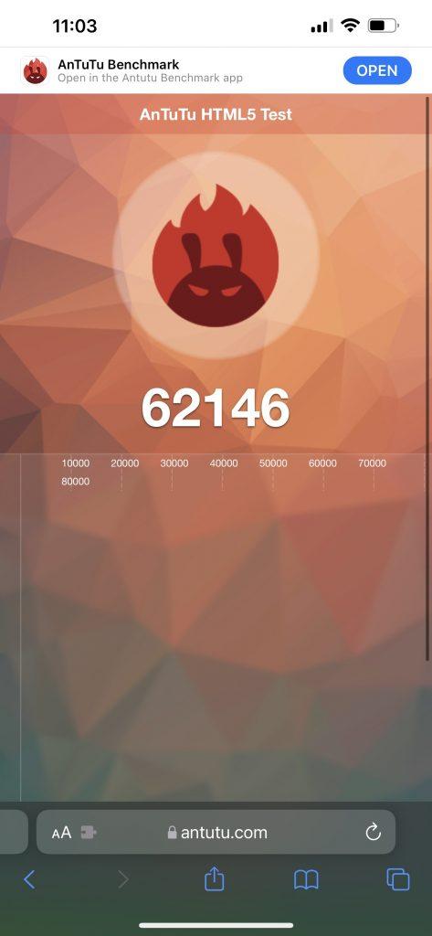 Apple iPhone 13 Pro Max Antutu Benchmark Web Score