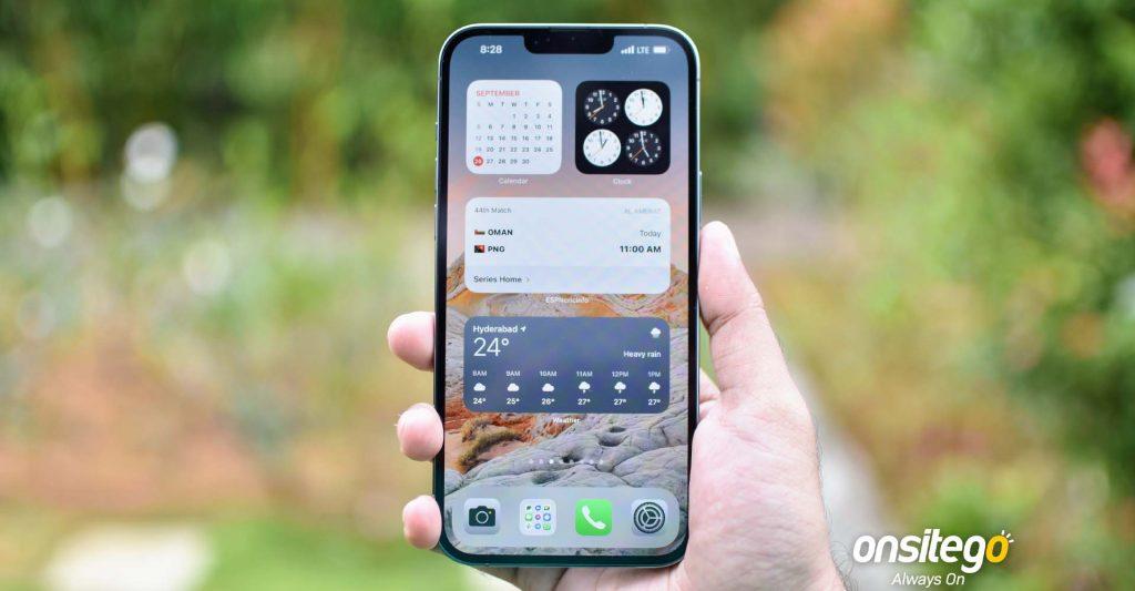 Apple iPhone 13 Pro Max Display Widgets