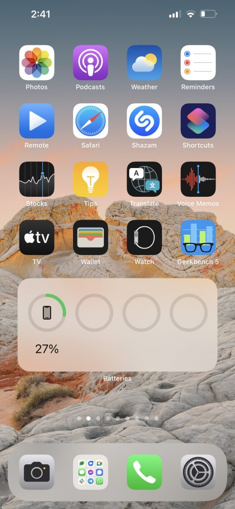 Apple iPhone 13 Pro Max Home Screen With Apps & Widgets