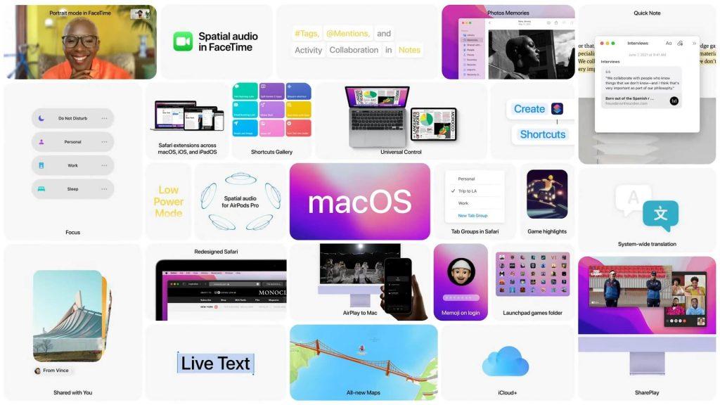 Apple macOS Monterey Features